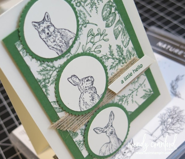Luvin' Stampin' Nature's Beauty #luvinstampin #cardmaking