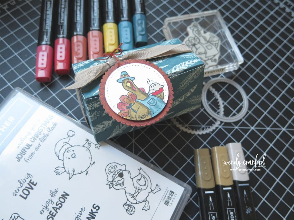 Birds of a Feather stamp set from Stampin' UP! for fun thanksgiving treats #stampinup #luvinstampin #thanksgivingtreat #thanksgivingdecor #thanksgivingcard #fall