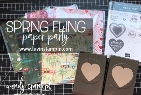 Wendy's Spring Fling Paper Party!  Sign up now at www.luvinstampin.com
