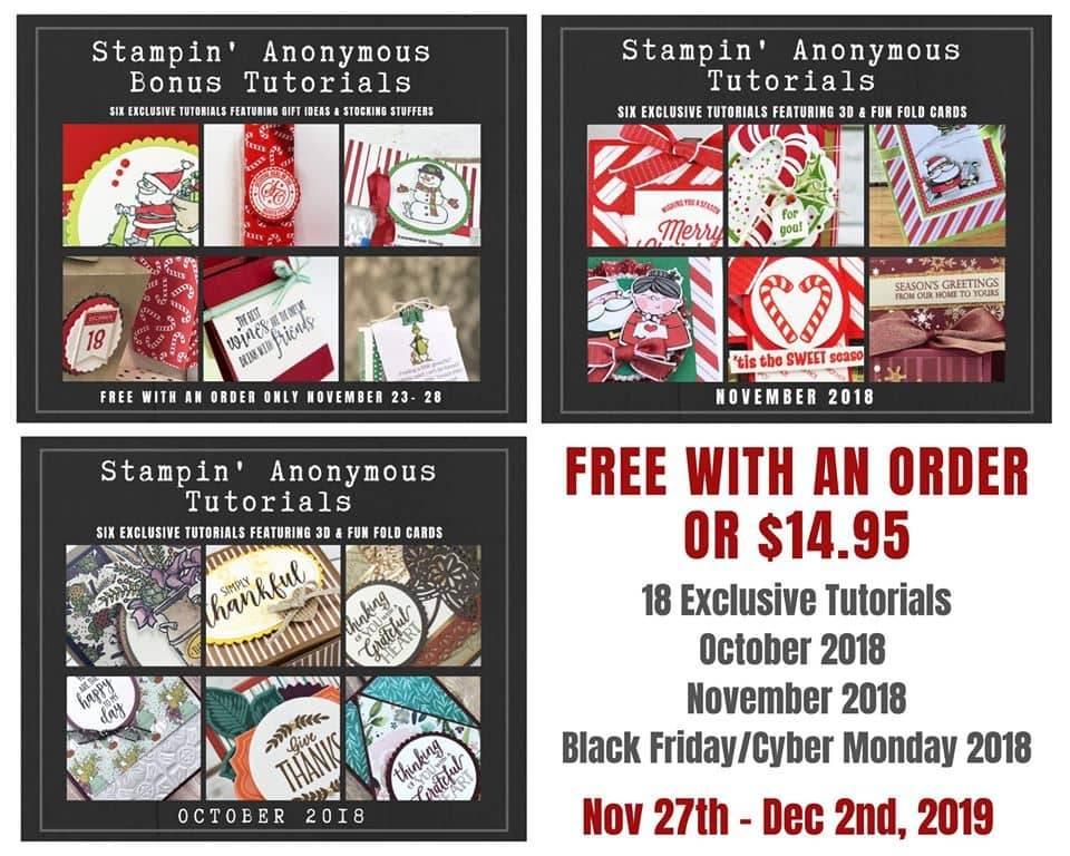 Black Friday Special | Stampin' Anonymous Tutorial bundles 1/2 off.