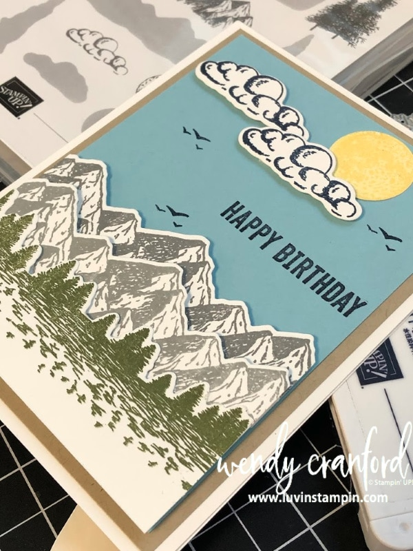Stampin' UP! Mountain Air stamp set is brand new and will be released in the 2020 Mini Catalog.  Order it Jan 3rd at www.shopluvinstampin.com #stampinup #stampinupmountainair