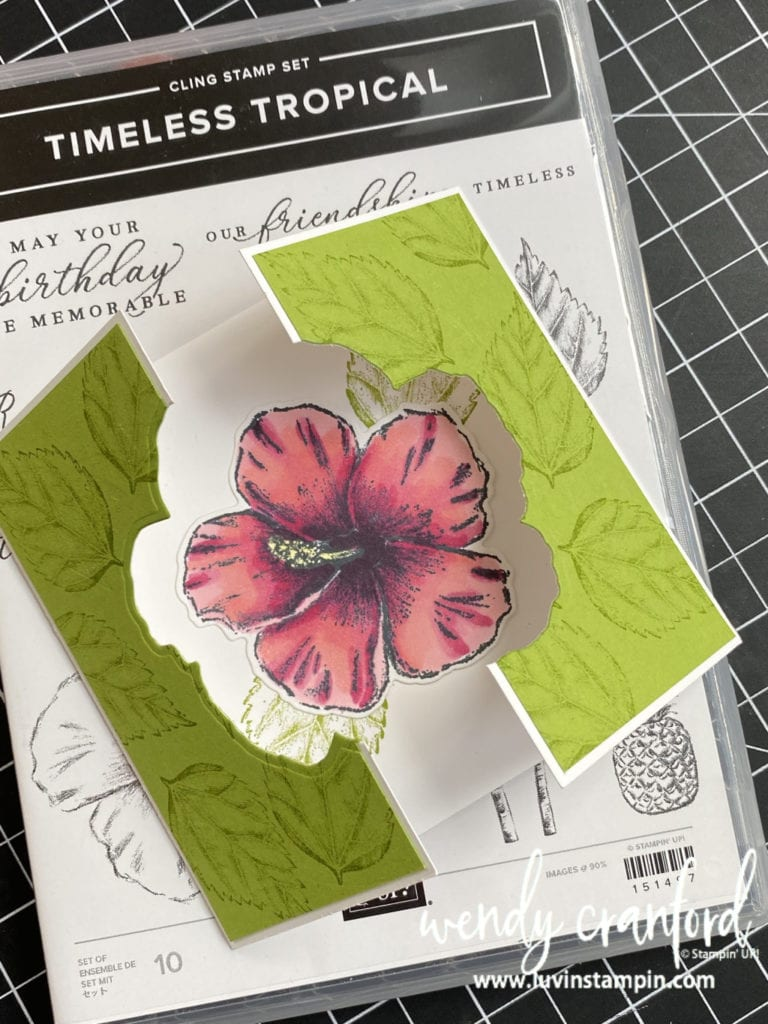 Die cut window card ideas featuring Stampin' UP! Timeless Tropical Bundle  #luvinstampin #stampinup #diecutwindow #cardtechniques