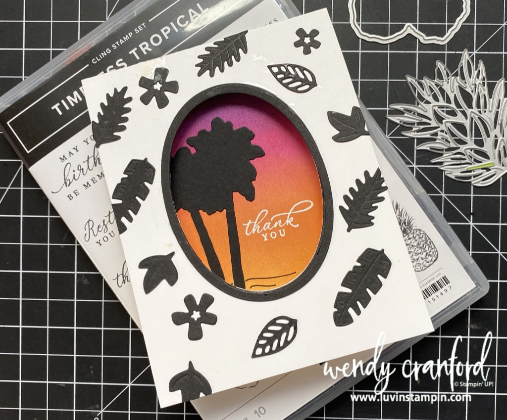 #luvinstampin #stampinup #diecutwindow #cardtechniques