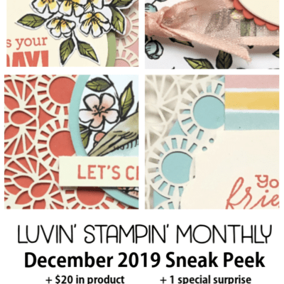 Bird Ballad Gift for my December Luvin' Stampin' Monthly's