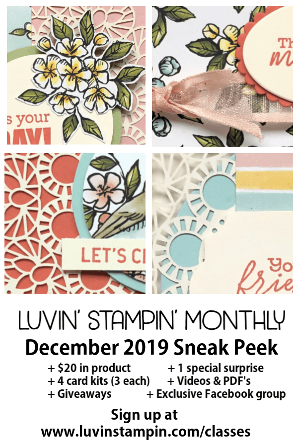 Luvin' Stampin' Monthly is a fun club #luvinstampin #cardmaking