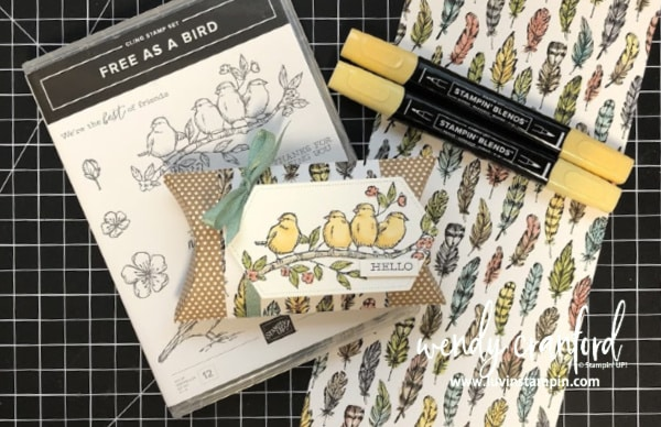 Simple thank you gift as a bird stamp set. #luvinstampin #stampinup