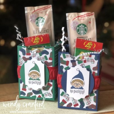 Mass Producing | Simple Handmade Gift Box feat. Stampin' UP! #Elfie