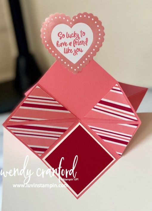 Pop Up Box card ideas feat Stampin UP! Heartfelt Bundle  #stampinup #luvinstampin #popupboxcard #cardmaking #handmade #valentinesday