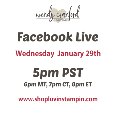 Facebook Live Today at 5pm PST