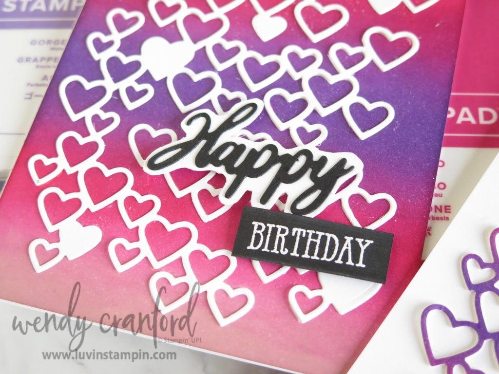 5  Ways To Use Background Dies|Stampin' UP! Detailed Heart Die