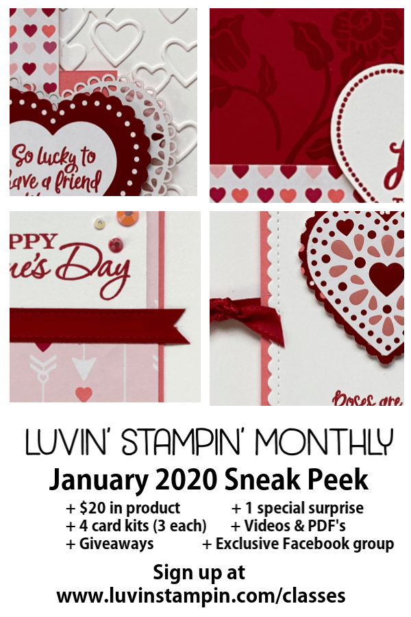 January Luvin' Stampin' Monthly sneak peek #luvinstampin #stampinup
