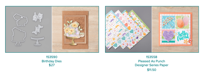 Die and designer series paper from Stampin' UP! that are available with the Coordination Product release.