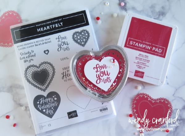 Treats and goodies using the Heart Foil Tin from Stampin' UP!  #luvinstampin #stampinup