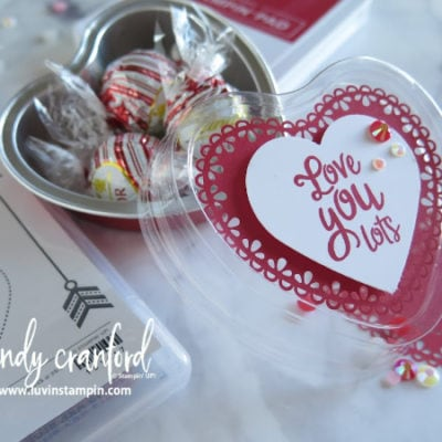 Quick & Easy Valentine's Treat Tin | Luvin' Stampin' Monthly