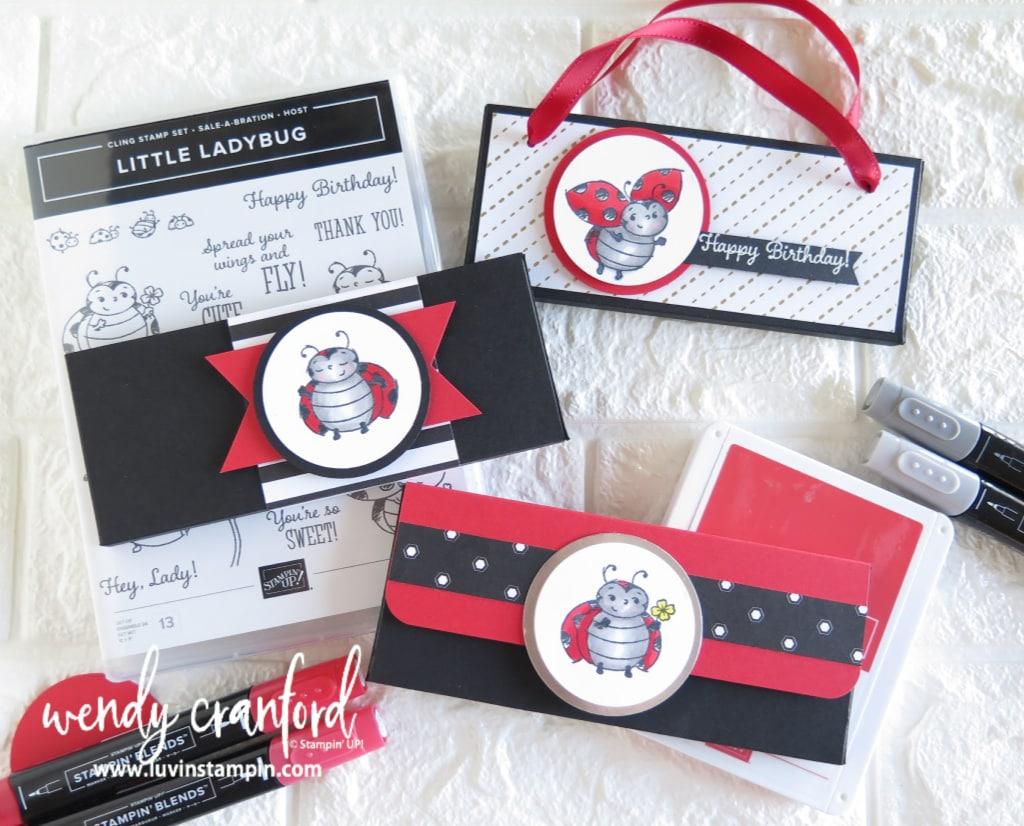 Valentines gift ideas! Little Ladybug stamp set. #littleladybug #valentinesdaygiftideas