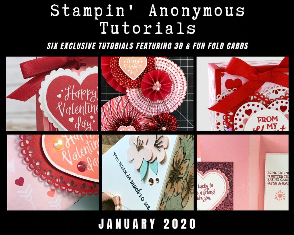 Stampin' Anonymous Tutorial Bundle for January - free when you place an order with Wendy Cranford