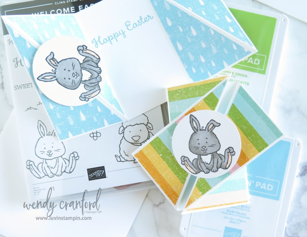 How to create a twisted gate fold card using Stampin' UP! products