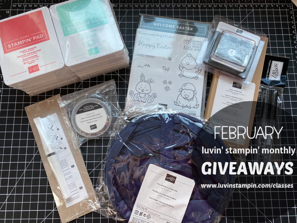 February giveaways for Luvin' Stampin' Monthly club