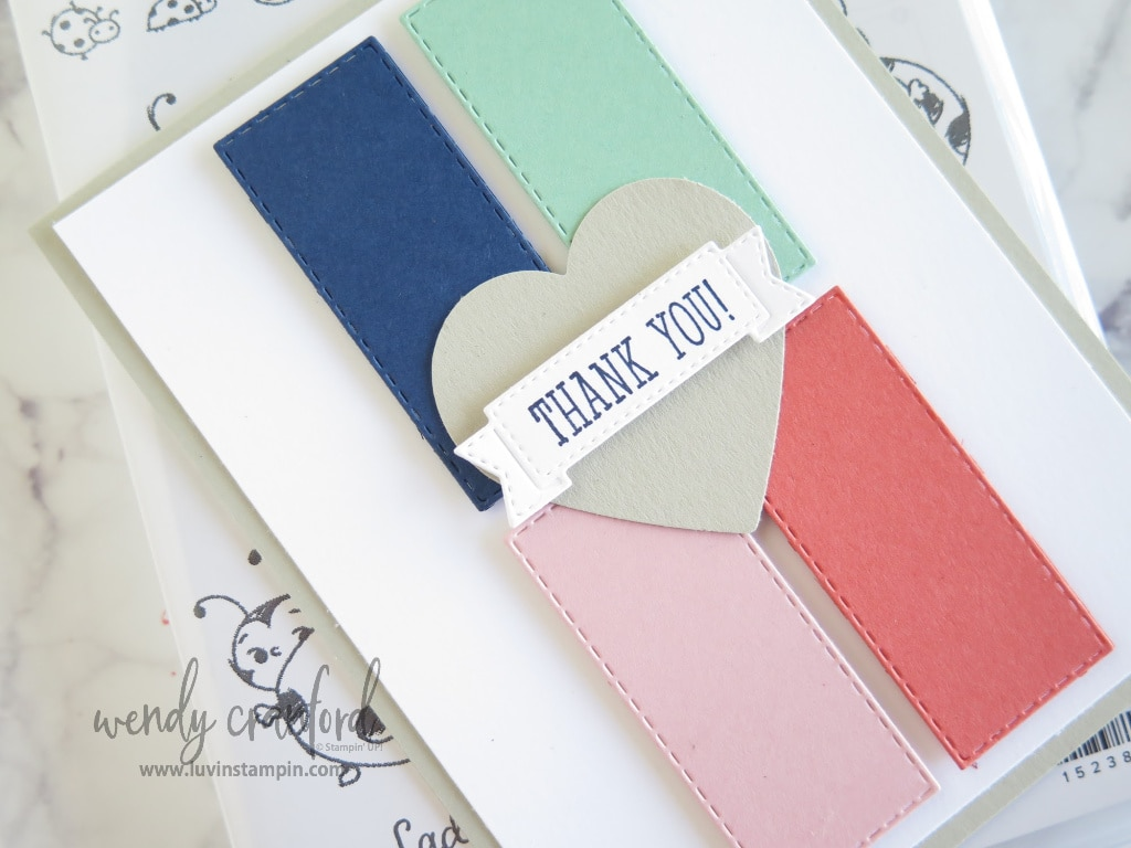 Beautiful color combination to create a thank you card for February customer orders.