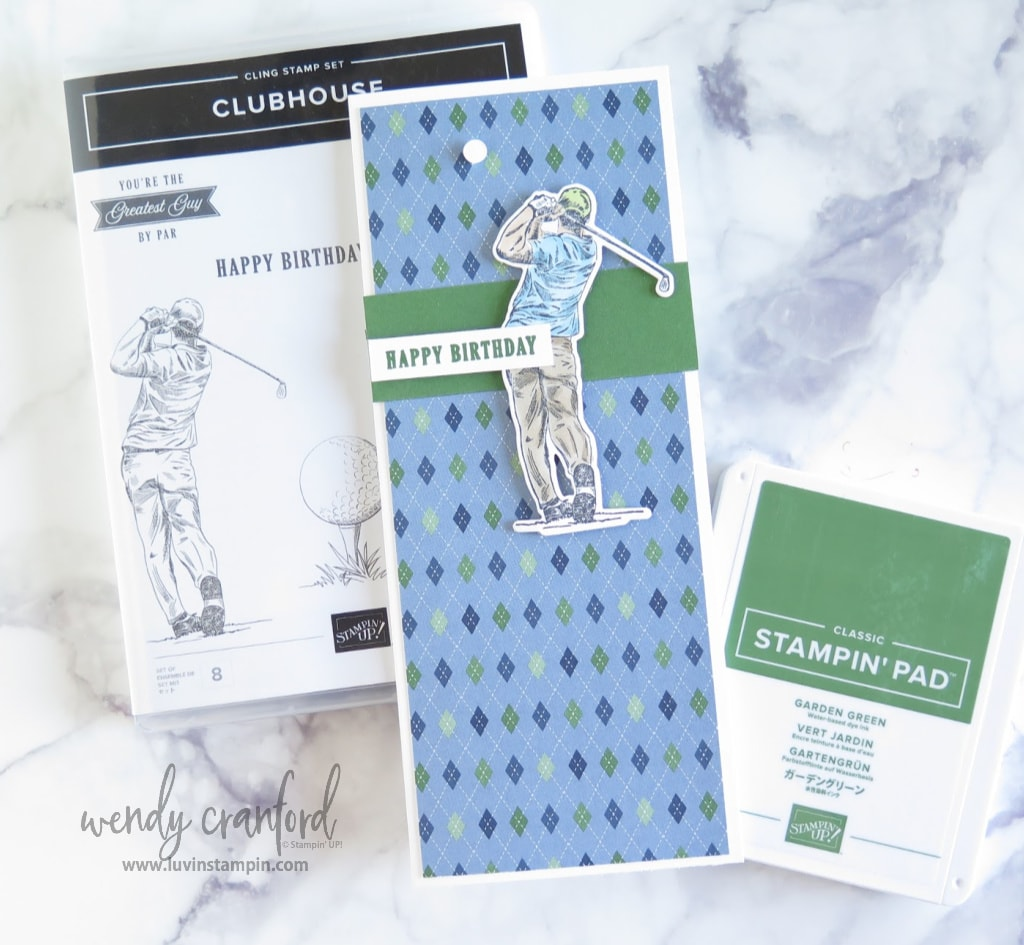 Tall & Skinny card featuring Clubhouse Bundle from Stampn' UP!