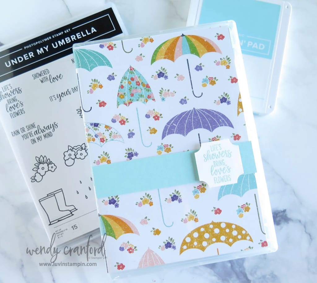Handmade card gift box for Luvin' Stampin' Monthly club members for February 2020