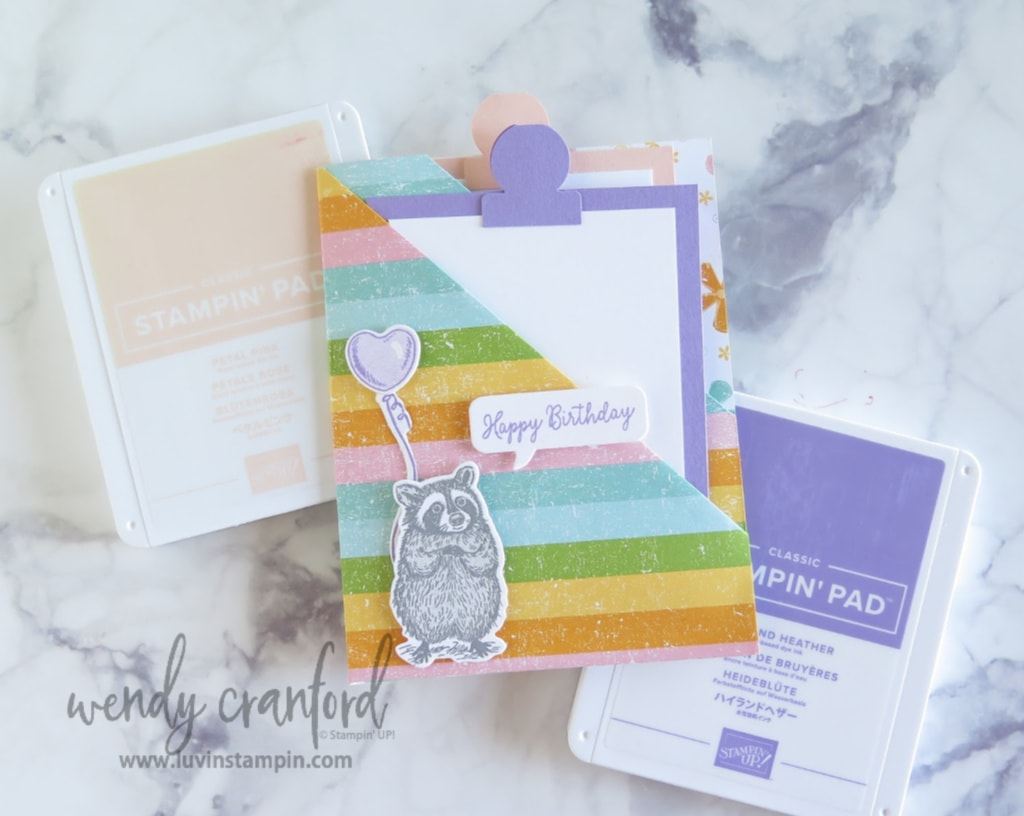 Double pocket card using Stampin' UP! Pleased As Punch Designer Series Paper.