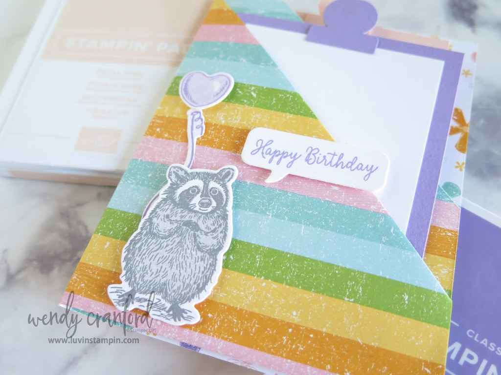 Someone Special stamp set from Stampin' UP! featured on the double pocket fun fold card