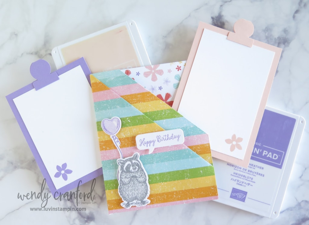 Insert pieces for the double pocket fun fold card are easy to make.
