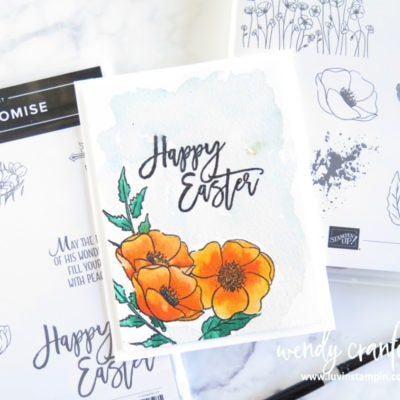 Painted Poppy Easter Watercolor Card