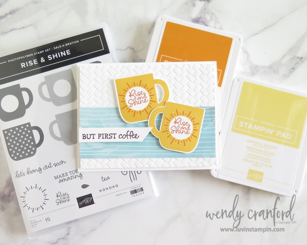 Stampin UP! Rise & Shine stamp set is a new product for the Sale A Bration gifts