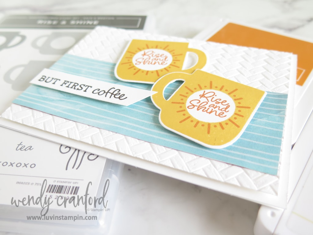 New Sale A Bration items available March 3rd. Stampin' UP! Rise & Shine set is free with a $50 order.