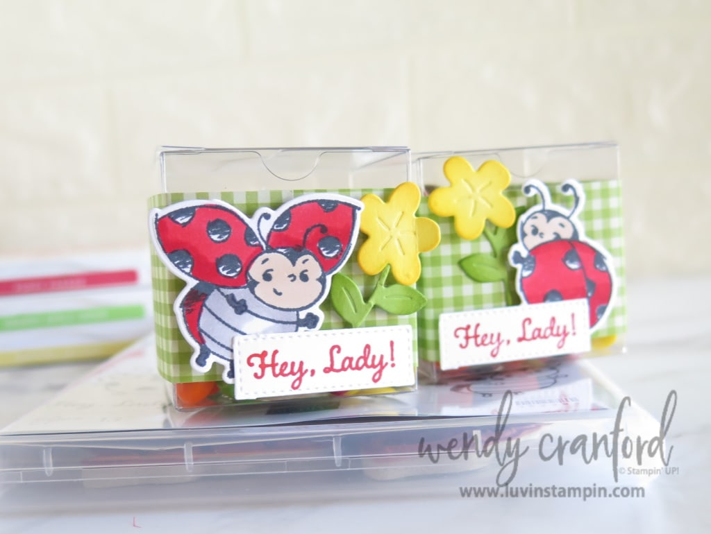 simple treat box with the Little Ladybug stamp set from Stampin' UP!