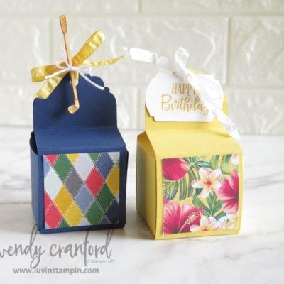 Slide-In Treat Box with Delightful Tag Topper Punch