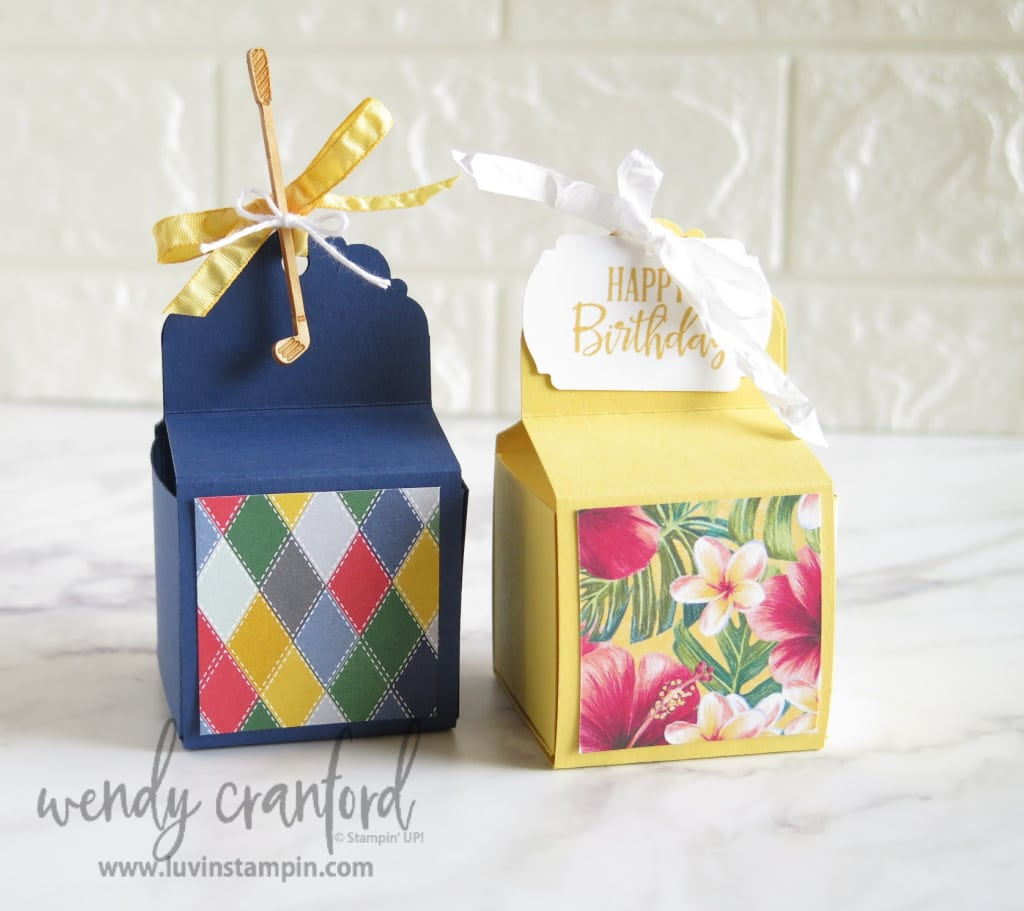 Small slide-in treat box for giving gifts to friends or family.