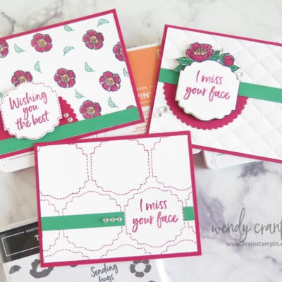 Three Ideas, One Card Design with Stampin' UP! Tags In Bloom