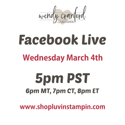 Join Me Live Today March 4th