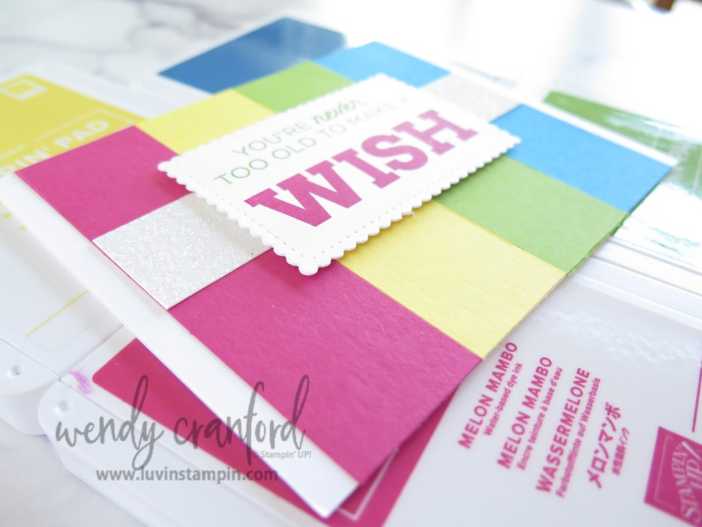 Stampin' UP! bright and bold colors to create a handmade birthday card