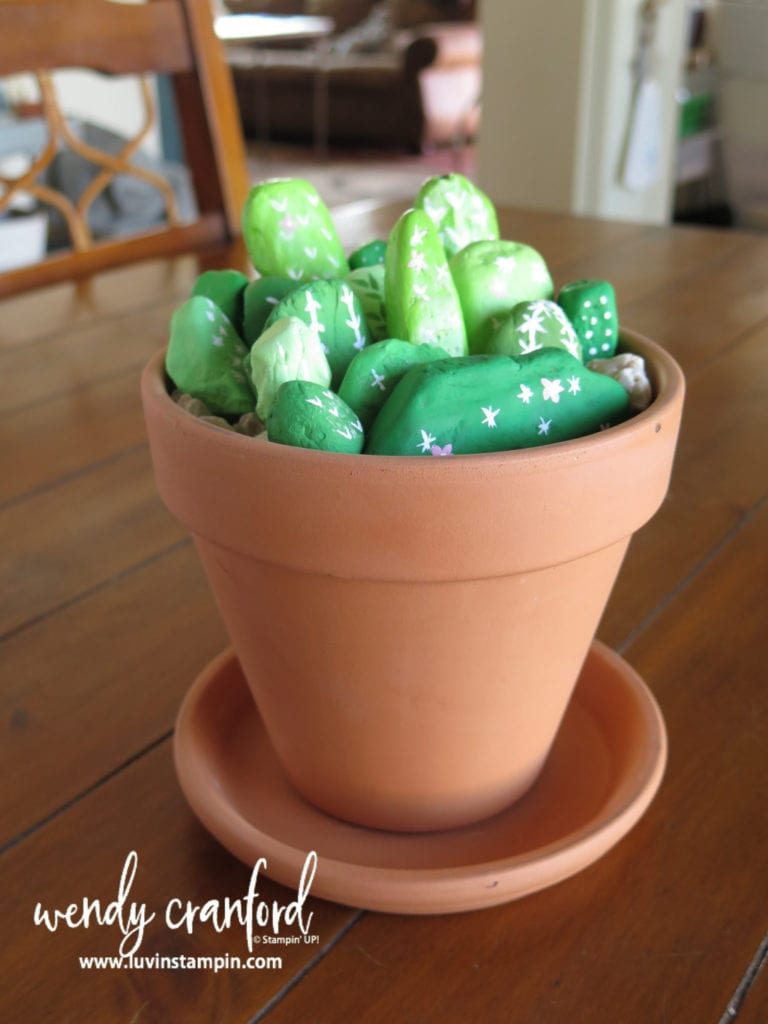 How to make succulent rocks with supplies you have around the house.