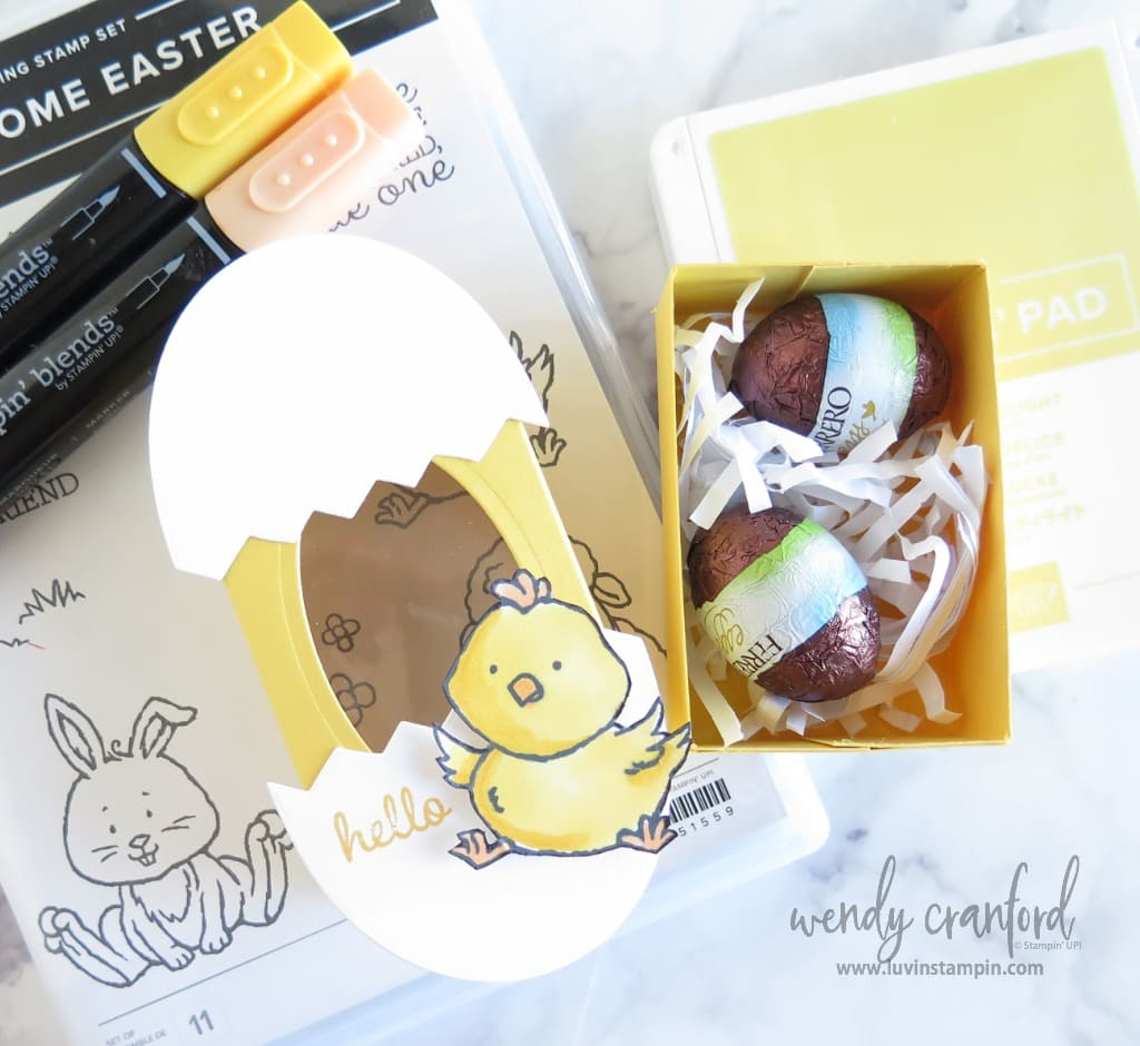 Put your favorite candies in this cute easter treat box.