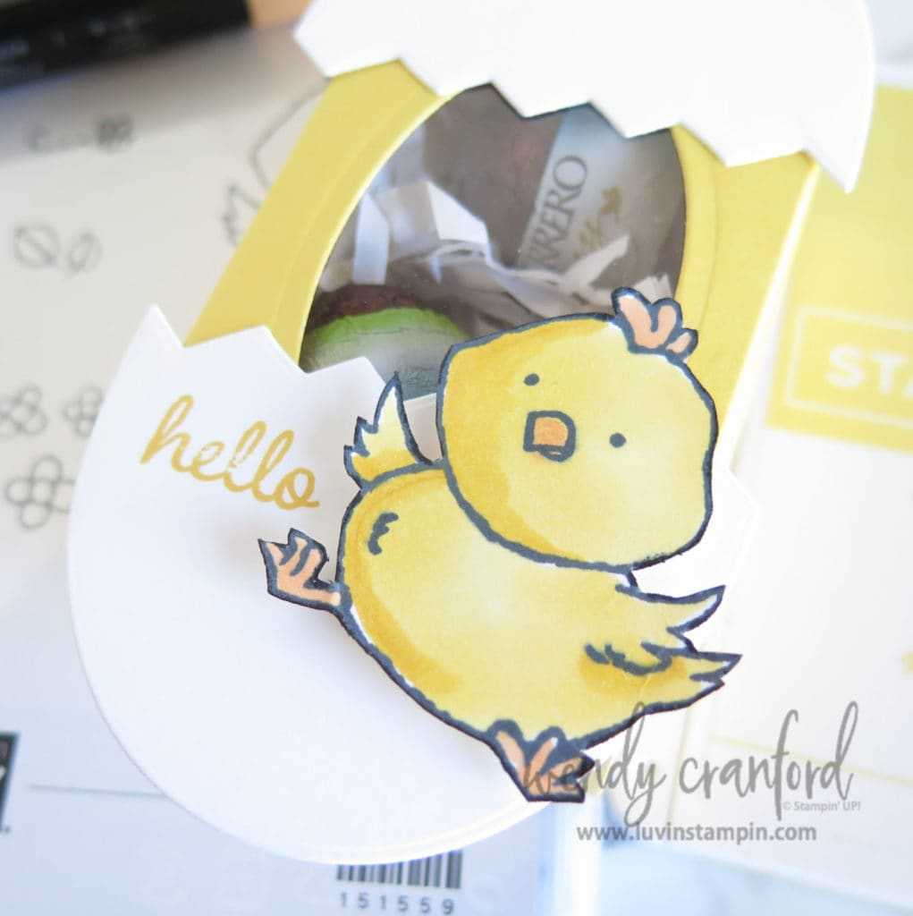 Baby chick colored with Daffodil Delight Stampin' Blends.