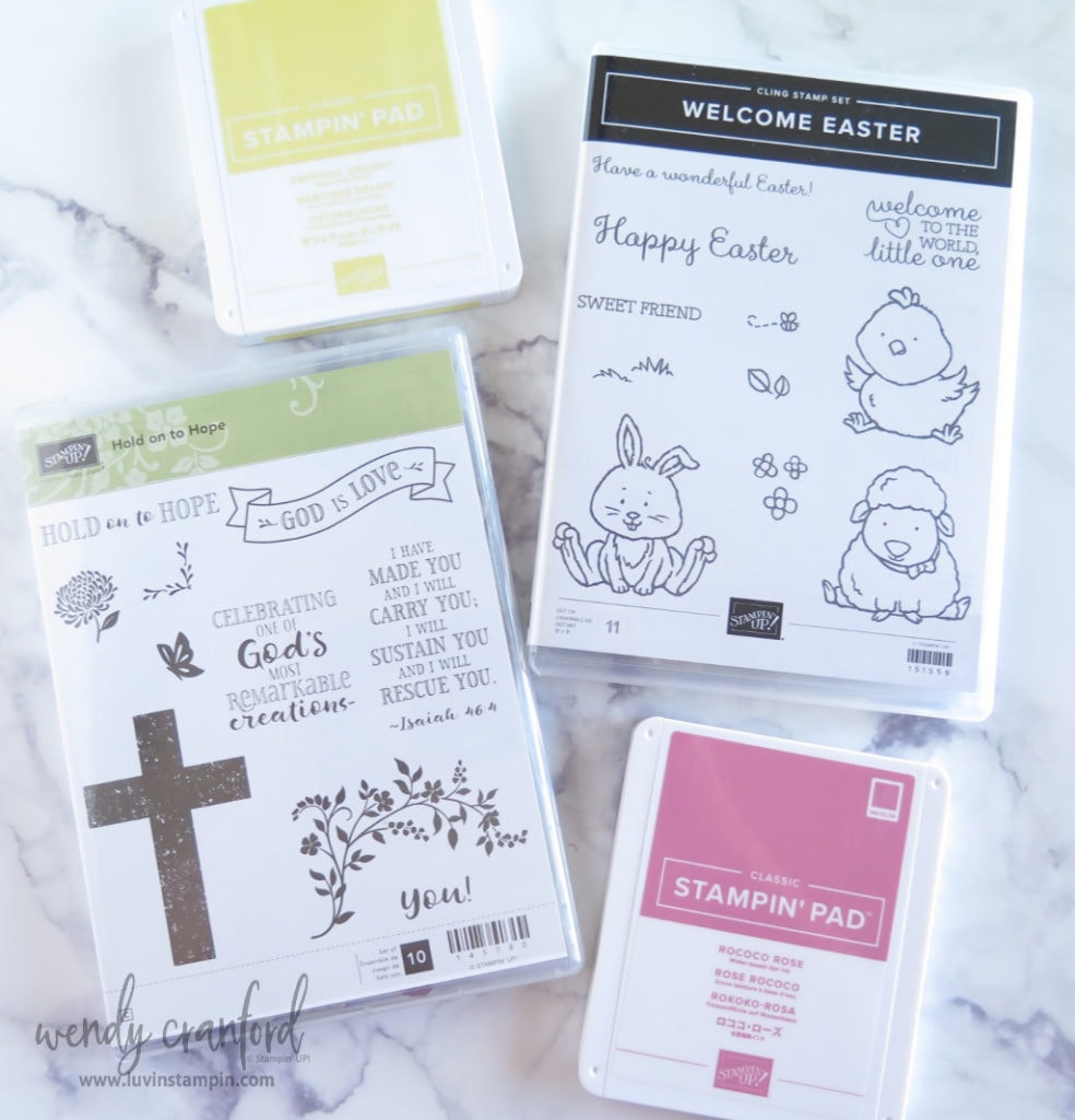 Hold On To Hope stamp set and Welcome Easter stamp set from Stampin' UP!