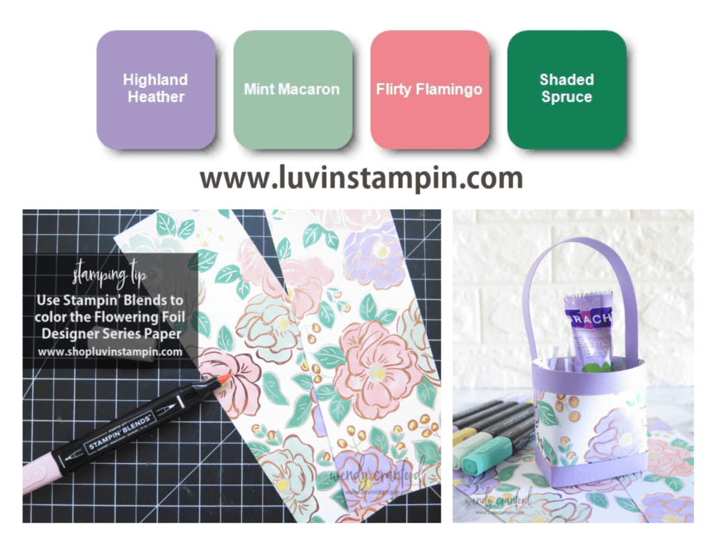 Spring color inspiration for card making and paper crafting.