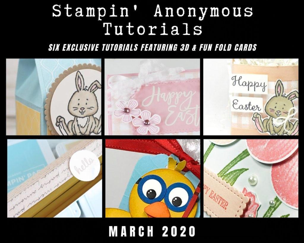 March 2020 sneak peek of Stampin' Anonymous Tutorial Bundle