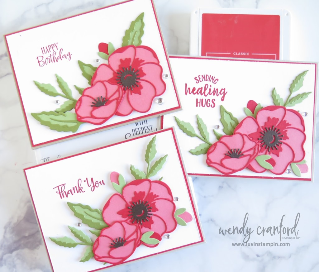 Create beautiful cards with die cut color stacking. No coloring necessary.