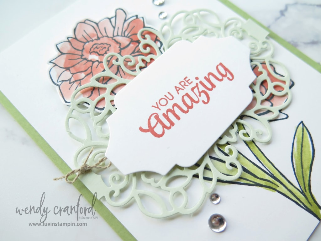 You're Amazing card from the Stampin' UP! catalog. For essential workers.