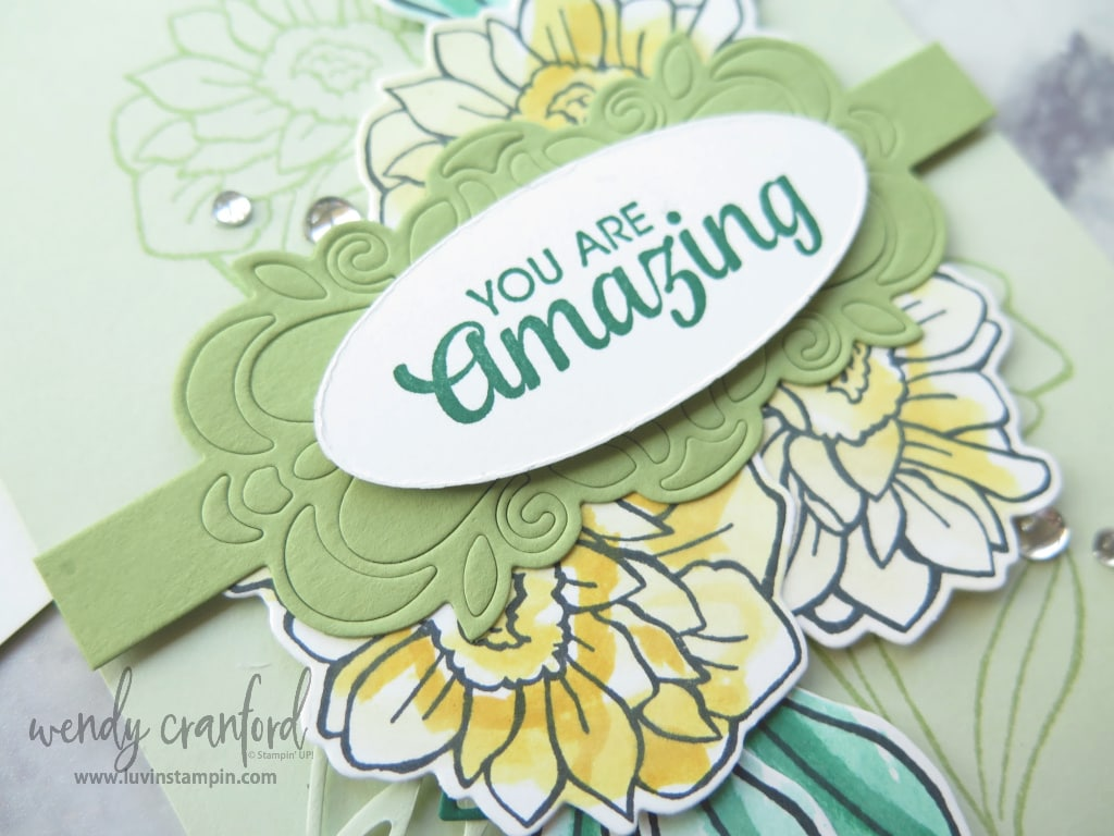 Another beautiful card using the Stampin' UP! catalog for ideas.