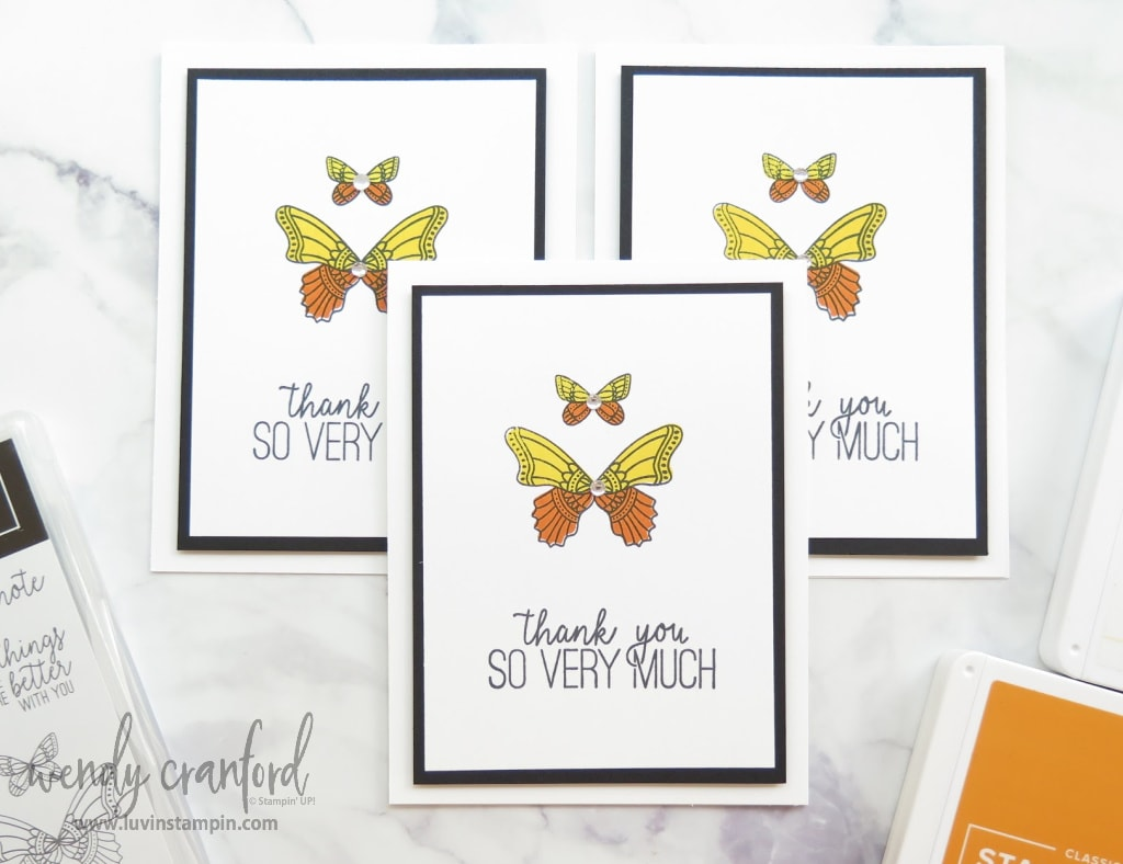 Butterfly Gala cards using mass producing cards tips