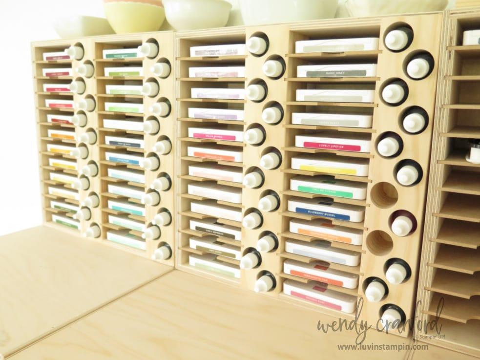 Stamp N Storage Ink Pad and ink refill storage.