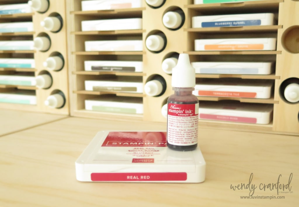 Ink pad and ink refill in Real Red from Stampin' UP!