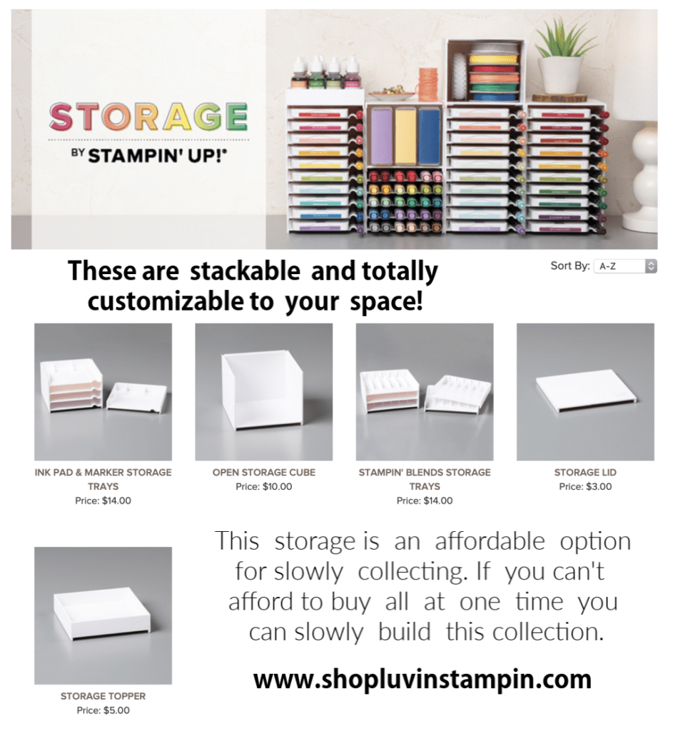 Storage By Stampin' UP! is an affordable option for storing your ink pads and other fun stamping items.